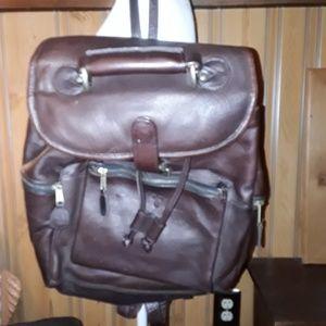 FRYE XXL BROWN LEATHER BACKPACK BAG